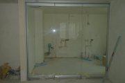 стеклянные раздвижные двери фото 1