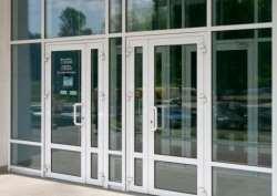 алюминиевые двери фото 4