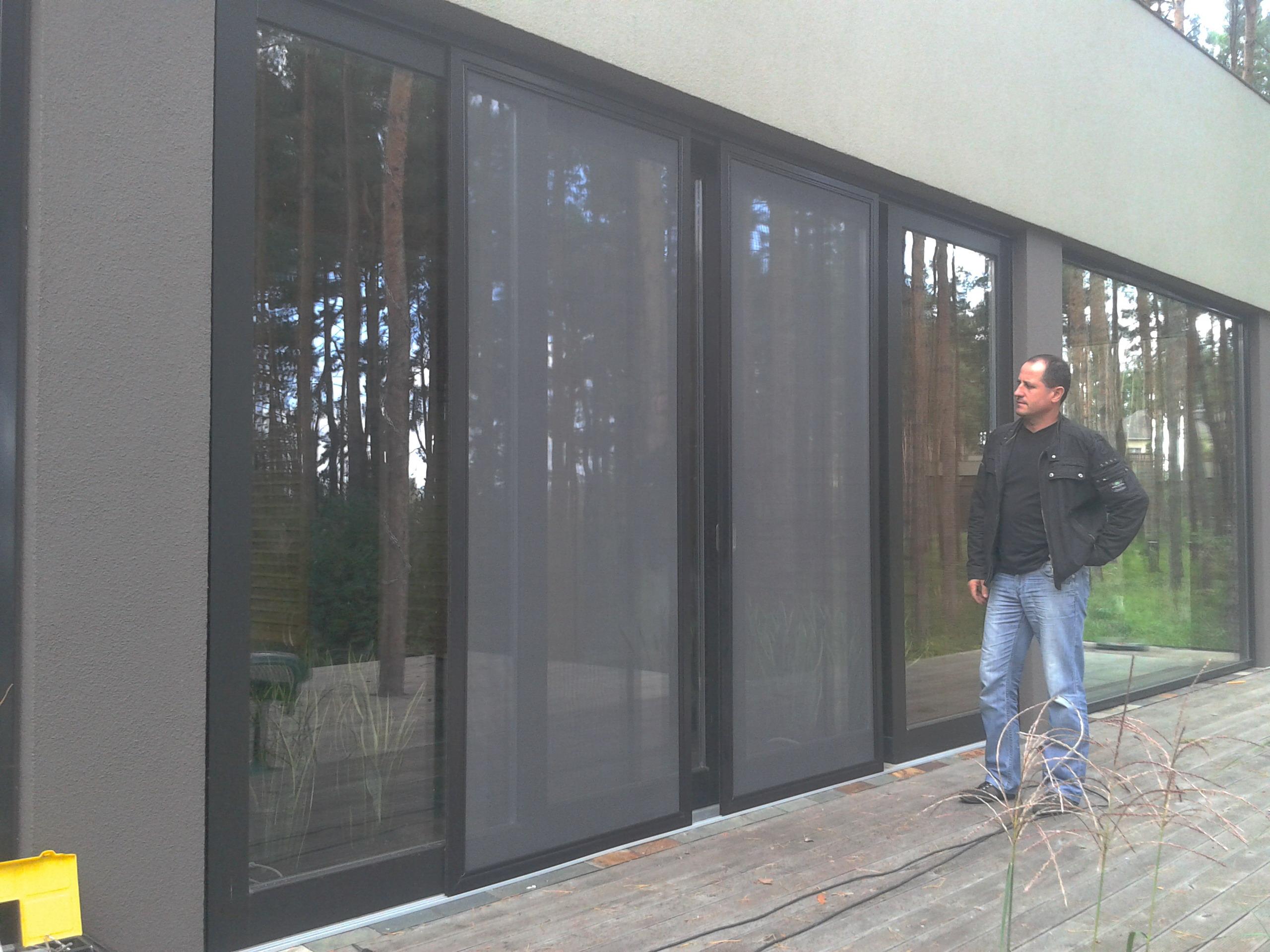 Укрфасадбуд - алюминиевые подьемно-раздвижные двери. дом в к.