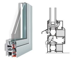 Алюминиевые окна и двери Alumil-M11000