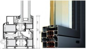 Алюминиевые окна и двери Alumil-m11500