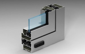 Алюминиевые окна и двери alutech c48